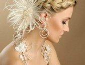 Свадебные прически на средние волосы, фото 4