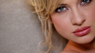 Макияж для полных лиц, привлекательный макияж для серых глаз