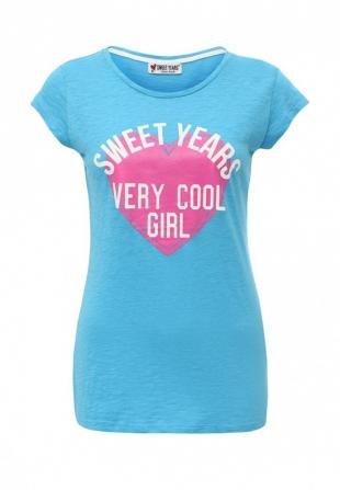 Голубые футболки, футболка sweet years, осень-зима 2016/2017