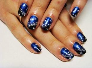 Рисунки точками на ногтях, яркий новогодний маникюр