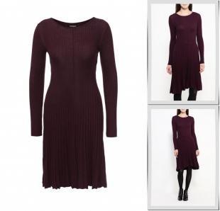 Фиолетовые платья, платье tom tailor, осень-зима 2016/2017