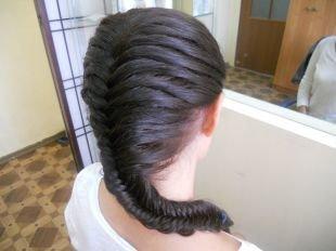 """Прическа колосок на длинные волосы, красивая коса """"рыбий хвост"""""""