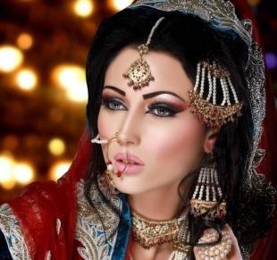 Свадебный макияж в восточном стиле, профессиональный восточный макияж