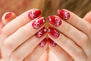 Рисунки на ногтях иголкой, простой дизайн ногтей с помощью иголки