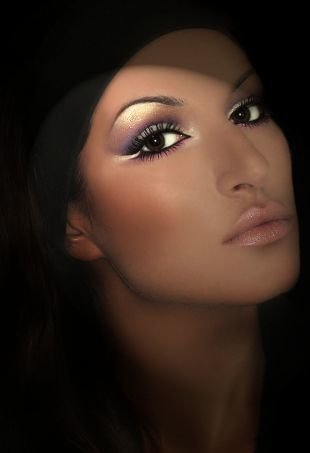 Восточный макияж для карих глаз, вечерний арабский макияж