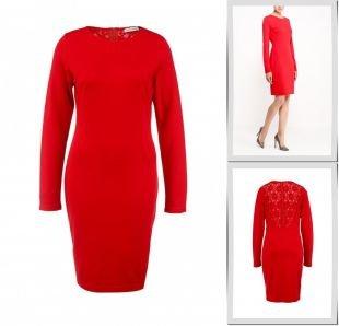 Красные платья, платье lamania, осень-зима 2015/2016