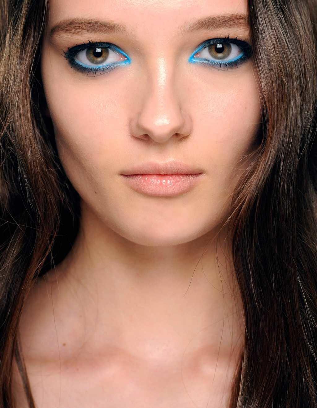 Макияж для голубых глаз впалые глаза