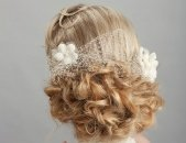 Свадебные прически на средние волосы, фото 2