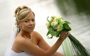 Профессиональный свадебный макияж, свадебный макияж для голубых глаз и светлых волос
