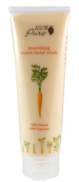 """Ежедневный скраб для лица, 100% pure питательный скраб для лица """"морковь"""" 118 мл"""