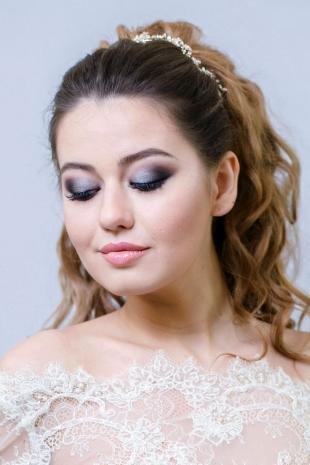 Яркий макияж для зеленых глаз, свадебный макияж для полного лица