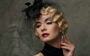 Прически в стиле 30 х годов, стильная вечерняя прическа на короткие волосы