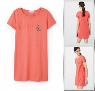 Коралловые платья, платье mango, осень-зима 2016/2017