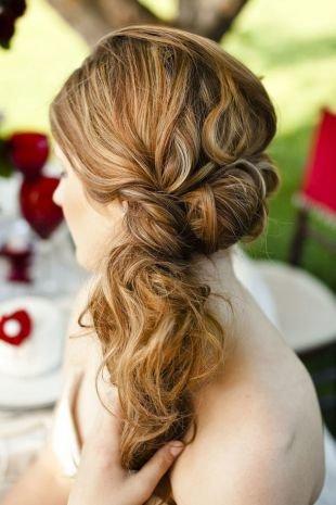 Прическа хвост на длинные волосы, прическа греческий хвост