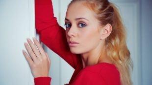 Нежный макияж, макияж для голубых глаз и светло-рыжих волос