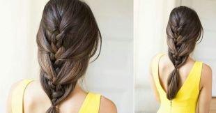 Быстрые прически на длинные волосы, необычный колосок на длинные волосы