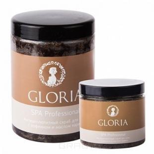 Скраб Gloria, gloria, скраб антицеллюлитный для тела с кофеином, 1 л