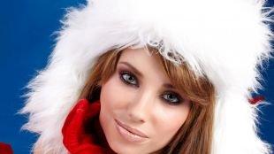 Коричневый макияж, макияж снегурочки для серых глаз