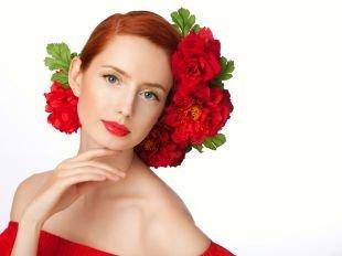 Макияж под красное платье, летний макияж для рыжих
