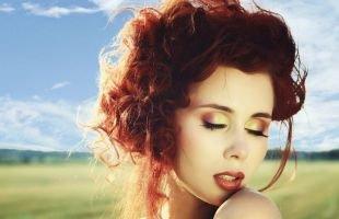 Макияж для выпуклых глаз, красивый макияж для рыжих волос