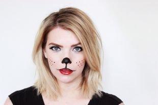 Макияж для голубых глаз на хэллоуин, кошачий макияж на хэллоуин