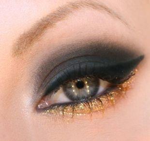 Темный макияж для серых глаз, волшебный макияж смоки айс