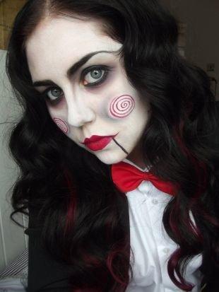 "Легкий макияж на хэллоуин, макияж на хэллоуин - ""кукла билли"""