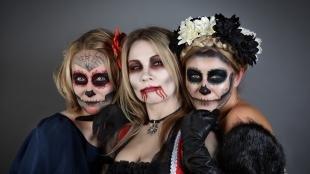 Макияж для голубых глаз на хэллоуин, оригинальный макияж на хэллоуин