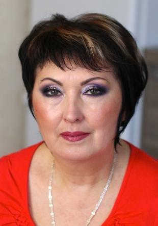 Возрастной макияж для нависшего века, праздничный макияж для женщин после 50 лет