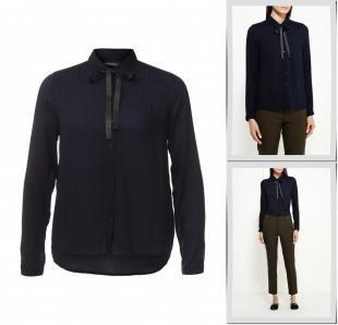 Синие блузки, блуза broadway, осень-зима 2016/2017