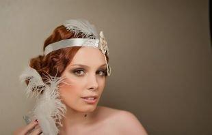 Прически в стиле 30 х годов, свадебная прическа на длинные волосы в стиле чикаго 20-30 годов