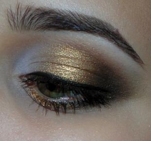 Макияж для больших зеленых глаз, золотой макияж для зеленых глаз