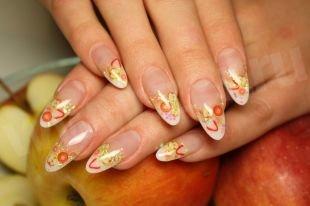 Дизайн ногтей, летний френч
