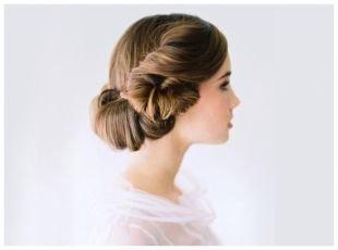Греческая причёска с повязкой на средние волосы, свадебная прическа для длинных волос