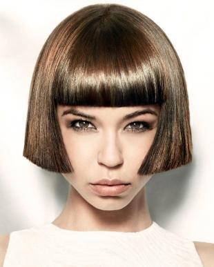 Цвет волос горький шоколад на средние волосы, ретро-стрижка на средние волосы
