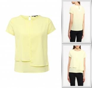 Желтые блузки, блуза tom farr, весна-лето 2016