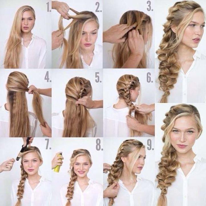 Быстрые и красивые прически на длинные волосы